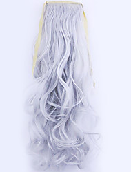 Silver Length 50CM Factory Direct Sale Bind Type Curl Horsetail Hair Ponytail(Color Silver)
