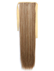 Brown Straight Blending Long Straight Hair Wig Ponytails 12/613