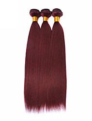 "3 Pcs/Lot 14""-24"" Peruvian Virgin Hair Straight Hair Color 99J Unprocessed Human Hair Weaves"