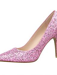 Women's Shoes Glitter Wedge Heel Heels/Pointed Toe Heels Outdoor/Office & Career/Party & Evening Black/Yellow/Pink/Red