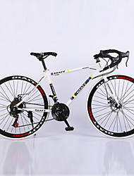 Road Bike Cycling 21 Speed 26 Inch/700CC Unisex Adult Men's Women's SHIMANO TX30 Double Disc Brake Springer Fork Hard-tail Frame
