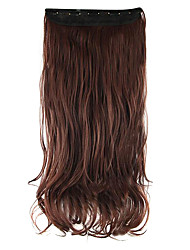 Length Red wine 60CM High Hemperature Wire Wig Hair Extension Synthetic Hair