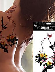 5pcs водонепроницаемый цвет сливы сороки шаблон татуировки временный боди-арт наклейки поддельные татуировки