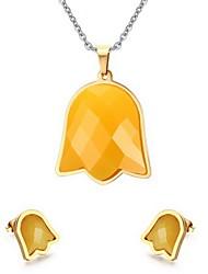 Schmuck Halsketten / Ohrringe Schmuckset Stahl bezaubernd Party / Alltag / Normal Edelstahl 1 Set Damen Hochzeitsgeschenke