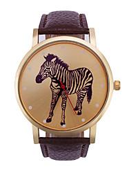 Ladies' Fashion Quartz Pouplar Simple Type Zebra Pattern Individuality Free Relaxation Watches