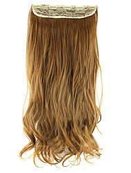 Length Brown 60CM High Hemperature Wire Wig Hair Extension Synthetic Hair
