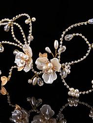 Bride's Flower Rhinestone Imitation Pearl Wedding Hair Accessories Headpiece Headbands 1 Pieces