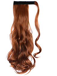 Wig Brown 45CM High-Temperature Wire Strap Style Long Hair Ponytail Colour 30J