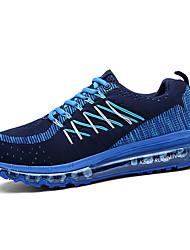 laufende Schuhe der Frauen flache Ferse Komfort Art und Weise Turnschuhe sportlich blau / grün / pink / rot Tüll