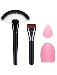 la brosse fan de maquillage pinceau fond de teint petite maquillage feuilletée et oeuf nettoyage