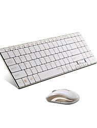 originais Rapoo 9160 2,4 g 5,6 milímetros ultra-fino teclado e rato de combinação de ouro wireless