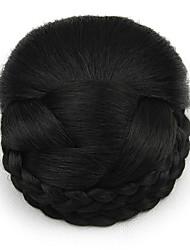 Kinky кудрявый черный профессии шнурка человеческих волос парики шиньоны 2
