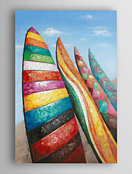 Hand Painted Oil Painting Landscape Colourful Surfboard with Stretched Frame 7 Wall Arts®