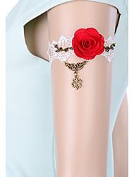 Bijuteria de Corpo/Bracelete Cadeia corpo / Cadeia de barriga Renda Moda Preto 1peça
