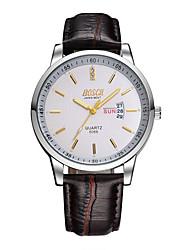 Мужской Наручные часы Кварцевый Защита от влаги Кожа Группа Коричневый бренд-