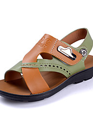 Boy's Sandals Summer Comfort PU Casual Buckle Brown Green White