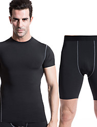 Running Clothing Sets/Suits Men's Quick Dry / Sweat-wicking Running Sports Sports Wear White / Green / Red / Gray / Black / BlueS / M / L
