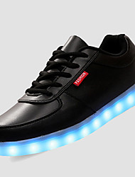 Women's LED Shoes USB Charging Outdoor/Athletic/Casual Fashion Sneakers White/Black