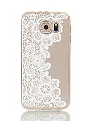 Para Samsung Galaxy S7 Edge Transparente / Estampada Capinha Capa Traseira Capinha Flor Macia TPU S7 edge / S7 / S6 edge / S6