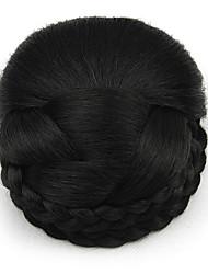Kinky фигурная черный европы невесты человеческих волос монолитным парики шиньоны SP-159 2