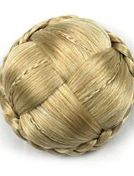 viziosa oro riccio Europa sposa capelli umani senza cappuccio parrucche chignon g660232-L 1003