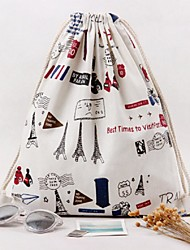 Women Silk / Cotton Casual Backpack White