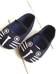 Chaussures bébé-Bleu-Extérieure-Coton-Plates