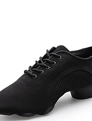 Modern Women's Dance Shoes Sneakers  Canvas Low Heel Black