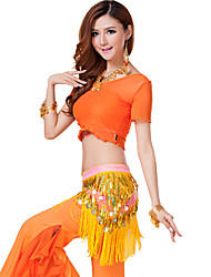 Belly Dance Outfits Women's Training Modal Draped 3 Pieces Blue / Orange