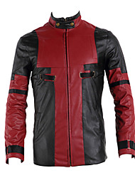 Cosplay Costumes Super Heroes Movie Cosplay Red / Black Patchwork Coat Halloween / Christmas / New Year Male Leather