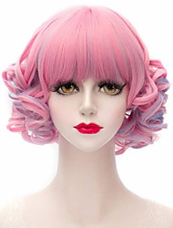 Capless Middle Multi-color High Quality Synthetic Wigs