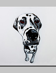 Lager Hand Painted Modern Grey Dog Oil Painting On Canvas Wall Art Picture For Home Decor Whit Frame Ready To Hang