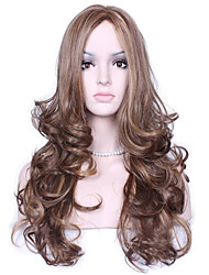 Natural long Multi-color Popular Wave Synthetic Wig For Woman
