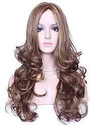 peruca sintética longa multi-cor popular onda natural para mulher