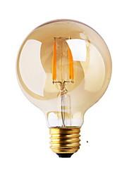 2W E26/E27 Ampoules à Filament LED G80 2 COB ≥180 lm Blanc Chaud Décorative AC 100-240 V 1 pièce