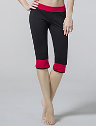 Yoga Pants Crop Breathable / Wicking Natural Stretchy Sports Wear Red / Black / Purple Women's OthersYoga