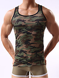 Hot Sale Gym Singlets Mens Tank Tops Military Style Camouflage Men Vest Sexy Camouflage Men's GYM Clothing Sports