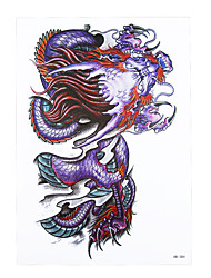 8PCS Body Arm Sleeve Art Temporary Tattoo Sticker Sexy Product Women Men Wolf Dragon Picture Design Paste Tatoo Paper