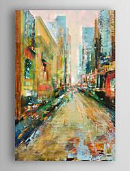 Ver la mano pintura al óleo pintada paisaje de la ciudad con el marco estirado Arts® 7 de pared