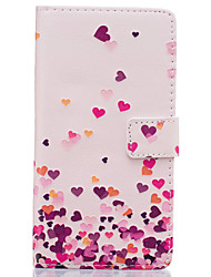 For Huawei Case Wallet / Card Holder / with Stand / Flip Case Full Body Case Heart Hard PU Leather Huawei