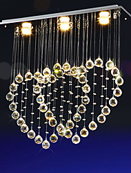Led 12Watt Crystal Chandeliers/ Modern/Contemporary/ Electroplated Metal/ Living Room / Bedroom / K9 crystal