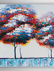 Hand Painted Oil Painting  Landscape Abstract Colourful Trees-Ⅱ with Stretched Frame 7 Wall Arts®