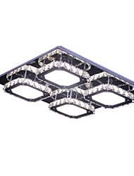 Modern Led 4 Lights Crystal Stainless Steel Ceiling Light Flush Mount White Light Living Room/Bed Room