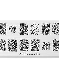 BlueZOO Rectangle Printing Nail Art Stamping (C-011)