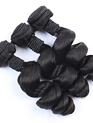 3Pcs/Lot Aunty Funmi Hair Spring Curls Brazilian Virgin Hair Loose Wave Wavy Natural Black 1B Human Hair Extensions