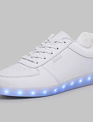 Femme-Bureau & Travail Décontracté Sport-Noir Blanc-Talon Plat-Light Up Chaussures ConfortSimilicuir