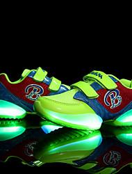 Para Meninos Para Meninas-Tênis-Conforto Light Up Shoes-Rasteiro-Preto Verde Vermelho-Tule-Casual