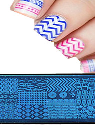 1pcs 12 * 6cm nail art plaque d'estampage conception de l'image colorée outils belle fleur à ongles xy-p01-08