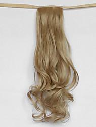 la onda de agua de color beige rubia tipo vendaje sintético peluca de pelo cola de caballo (color 25)