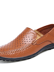 Men's Shoes EU38-EU47 Office & Career/Party & Evening/Casual/Drive Fashion Breathable Slip-on Nppa Leather Shoes